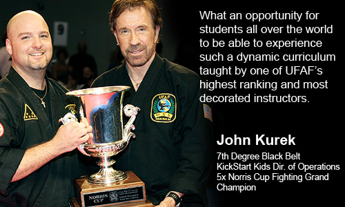 John Kurek, Houston, TX endorsing Master Steve Brown and Top Form Karate